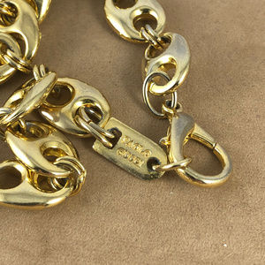 Paolo Jewelry - Paolo Gucci 12.5MM 16 inch Gold Tone Necklace